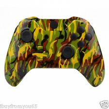 Xbox One Hydro dipped Green/Yellow/Black Camo Replacement Housing / Shell Kits