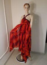 $3800 Michael Kors Silk Chiffon Red Snakeskin Runway dress/maxi gown Italy sz 10
