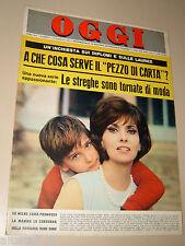 OGGI=1965/7=GINA LOLLOBRIGIDA=LUCIA VITTORIO PEROSINO=COLLEGNO SMEMORATO CANELLA