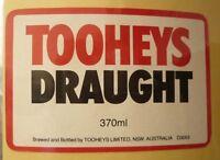 OLD AUSTRALIAN BEER LABEL, TOOHEYS BREWERY SYDNEY, DRAUGHT 370ml