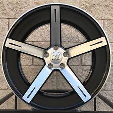 "20"" Inovit Rotor Staggered Wheels for BMW 4, 5 & 6 Series - Black Machine Rims"