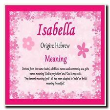 Isabella Personalised Name Meaning Coaster