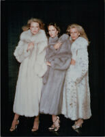 Charlie's Angels TV Shelley Hack Jaclyn Smith Cheryl Ladd in fur coats 8x10