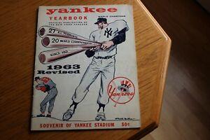 1963 New York Yankees MLB baseball yearbook