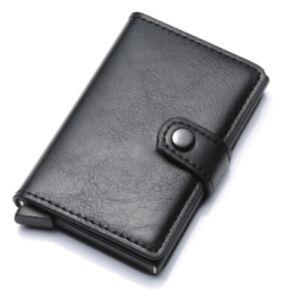 Card Holder Leather ID Card Credit Card Holder RFID Wallet Pop Up Cash Holder