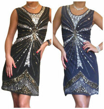 Mini Chiffon Dresses for Women with Sequins