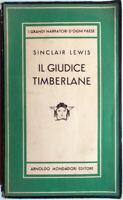 🔴 1949 Sinclair Lewis IL GIUDICE TIMBERLANE Arnoldo Mondadori Editore