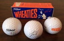 3 Tiger Woods Titleist DT Wheaties Golf Balls 1 Sleeve Collector Box