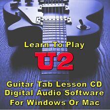 U2 Guitar Tab Lesson CD Software - 91 Songs