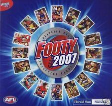 2007 Herald Sun Footy Cards set of 192 cards plus album