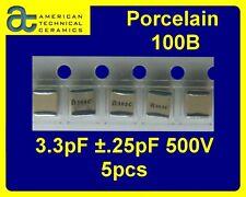 [ 5 pcs ] ATC series 100B 3.3pF @500V RF Porcelain Capacitors