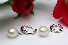 E61 Süßwasser Perle Schmuck Ohrringe Ohrstecker 925 Silber Creolen Ohrhänger neu