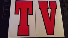 Lambretta TV Red Legshield Flyscreen Graphic Decals 60's Style