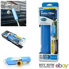 Camco 40043 RV Water Filter with Flexible Hose Camper Trailer Carbon KDF Taste