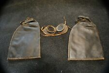 Rare Antique Motorcycle riding Goggles and arm sleeves Harley Davidson Indian