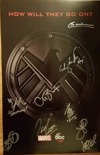 2018 SDCC EXCLUSIVE MARVEL AGENTS OF SHIELD CAST SIGNED POSTER ABC COMIC CON