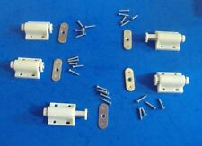 LOT OF FIVE WHITE MAGNETIC CABINET PUSH LATCH  TOUCH