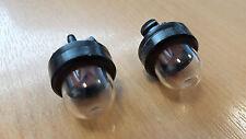 2 x Petrol Strimmer Primer Fuel Bulb Pump for Stihl McCulloch Flymo Husqvarna