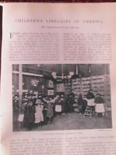 Childrens Libraries America Library Books Cleveland Medford Michigan Boston 1903