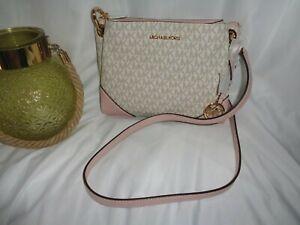 Michael Kors Nicole Large Triple Compartment Crossbody Handbag Blossom MK