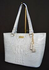 NWT! Brahmin Medium Asher Leather Tote in Chambray Melbourne. Lilac/Light Purple