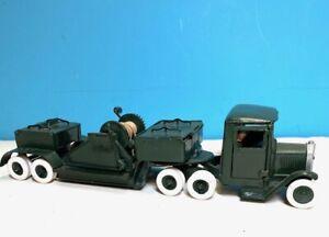 BRITAINS Prewar Set 1641, 18 Wheel Lorry w/Working Winch, 1939 Made in England