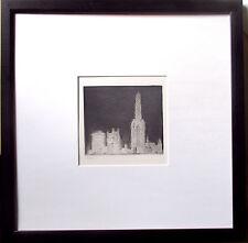 HERMANN STRUCK >NewYork< HANDSIGNIERT,Radierung 27x32.Bütten,Rahmen,orig.signed
