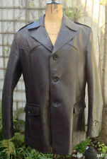 Leather Button Coats & Jackets for Men Spring