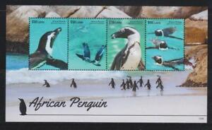LIBERIA 2015 BIRD STAMPS AFRICAN PENGUIN  SS  MNH - BIRDL433