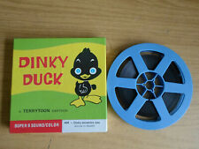 Super 8mm sound 1X200 DINKY FINDS A HOME. Dinky Duck cartoon. Spanish sound.