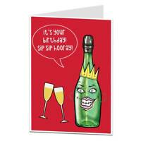 Funny Birthday Card For Women Her Prosecco Theme Best Friends Mum Sister
