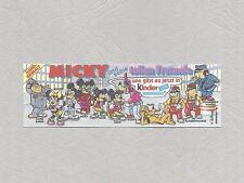 Beipackzettel Micky und seine tollen Freunde 1989 - Original BPZ
