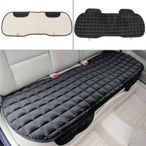 Black Car Seat Cover Breathable Sponge Mat Fit For 5-Seat Rear Back Seat Cushion
