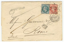 France Cover 1868 Paris to Roma (IT)