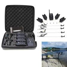 4pcs Wireless Fishing Bite Alarm Alert + Receiver for Carp Fish Tackle E2E9