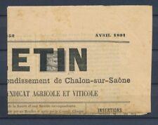 1891 Sage 1c N°83 seul sur Journal RARE Cote 800€. P4479