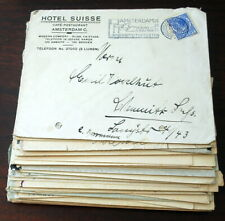 Vintage Hotels 60 covers, 1930s European cities. stamps, cancels etc (L205)