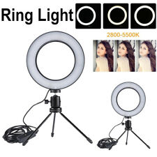 Cámara de estudio LED Regulable Anillo 5500K Luz Lámpara de Vídeo de maquillaje de foto con trípodes