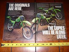 1981 KAWASAKI KX125 - KX250 - KX420 - ORIGINAL 2 PAGE AD