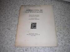 1928.Moralités de La Fontaine.11 eaux-fortes / Jacques Maret.N°1/50.surréalisme