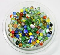 Lot of Over 300 Glass Marbles Various Sizes and Color Over 4lbs of Marbles