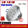 6x LED Ceiling Downlight Recessed 110V /220V LED Wall lamp Spotlight  LED Driver