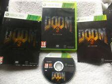 DOOM 3 BFG EDITION XBOX 360 V.G.C. FAST POST COMPLETE ( FPS shooter game )