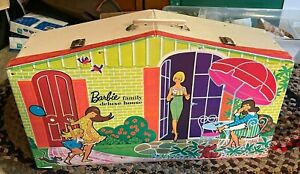 Vintage Mattel 1958 BARBIE  Deluxe Family HOUSE Carrying Case Storage