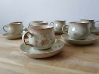 Daybreak Denby Cups Saucers X 8 used