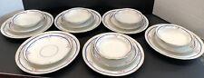 Charles HAVILAND Limoges 5 Set Lunch Plate, Saucer, Bowl RARE Pink Blue