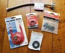 Lot of Misc Plumbing Braided Stainless Steel Toilet 12� Flapper Shank Washers