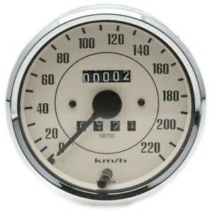 Smiths Classic 100mm Speedometer 0- 220kph - Mechanical - Magnolia
