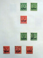 BRITISH COMOMWEALTH LEVANT 1911-13 GEORGE V REDRAWN OVERPRINTED 8 STAMPS