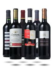 World Cabernet Sauvignon Selection - 6 Bottles of Full & Fruity Red Wine